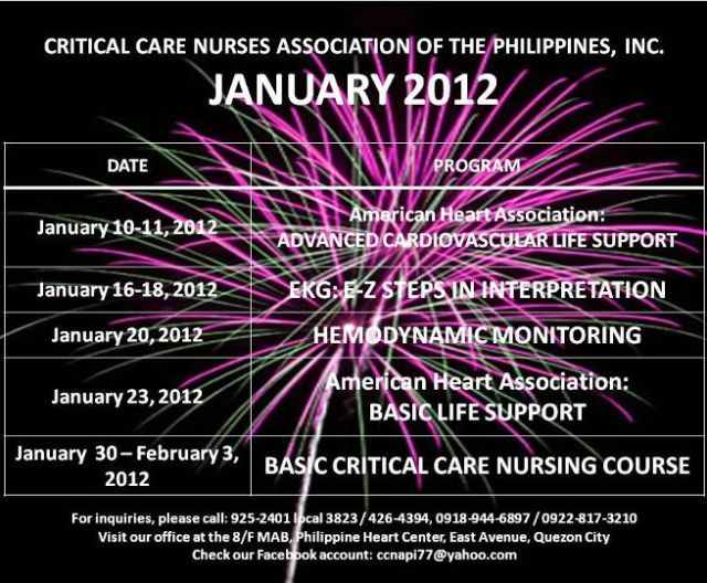 CCNAPI Schedule in the Month of January  2012 to February 2012