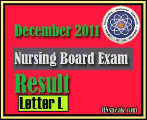 Lettter L- Passers of December 2011 Nursing Board Exam Results