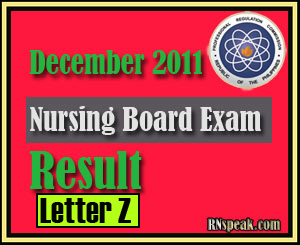 Letter Y December 2011 Nursing Board Exam