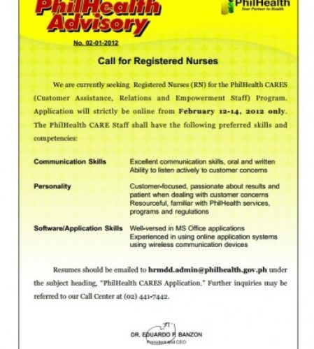 PhilhealthCares Advisory