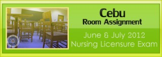 Cebu room assignment June and July 2012 NLE