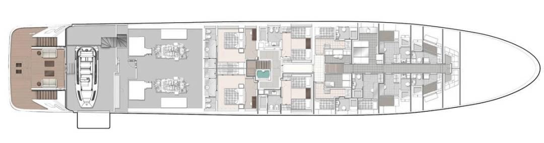 Majesty 175 Lower Deck