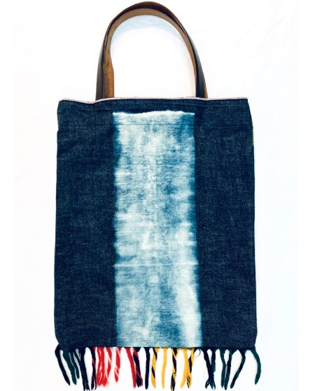 RO124 Stripe & Plaid Tote 01