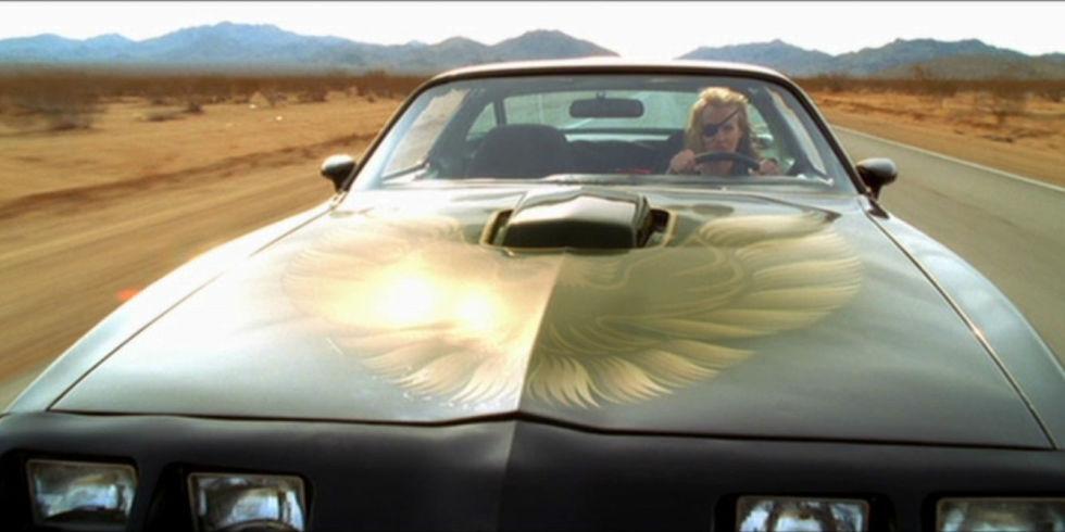 Scene from Kill Bill with Pontiac Trans Am