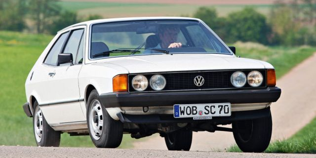 Volkswagen in the mid-1970s was very interesting. It finally had a replacement for the iconic Beetle in the Golf hatchback, and it replaced the stylish Karmann Ghia coupe with this, the Scirocco. Its Giugiaro-penned lines still look fresh today.
