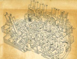 Coventry Climax Flat16 GP Engine  1965 Formula 1 Engine