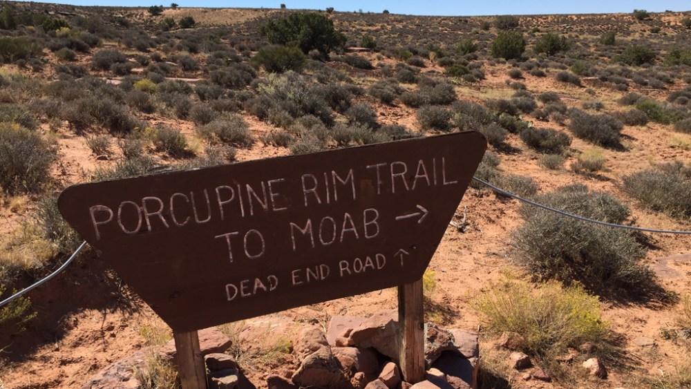 porcupine-rim-trail-schild