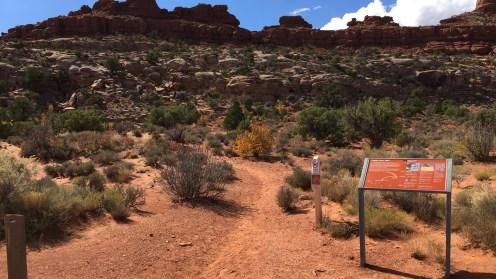 Gut markierter Trail Head