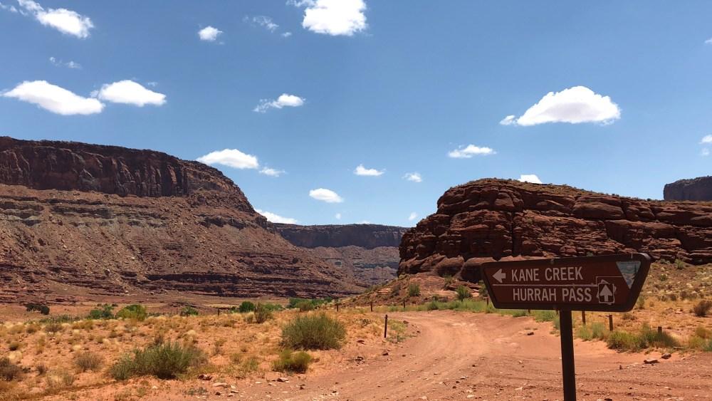 Verzweigung Kane Creek Canyon und Hurrah Pass bei Moab, Utah