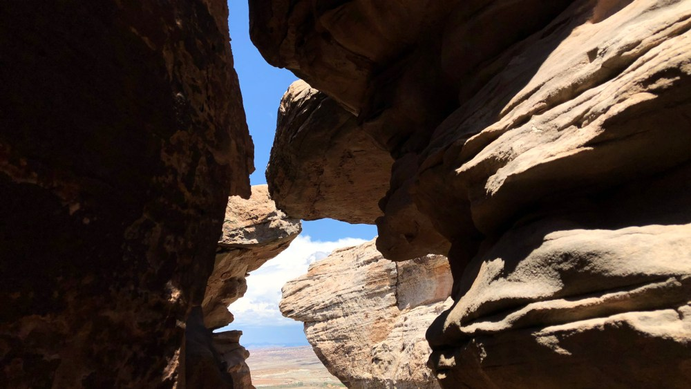 Slot Canyon beim Courthouse Spring bei Moab in Utah