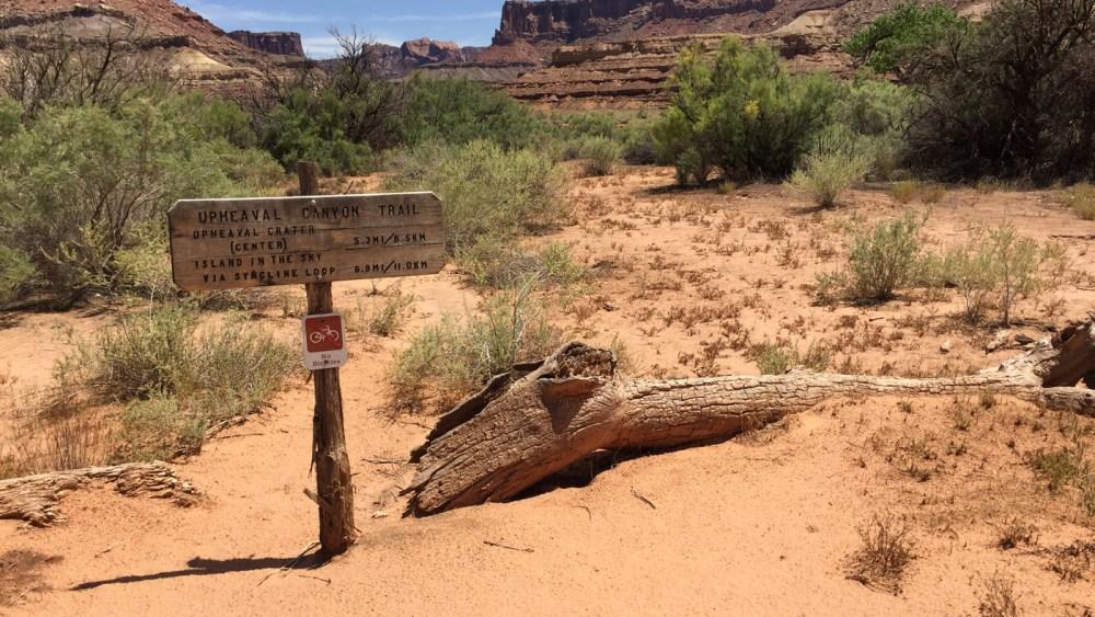 Upheaval Canyon Trail entlang der White Rim Road