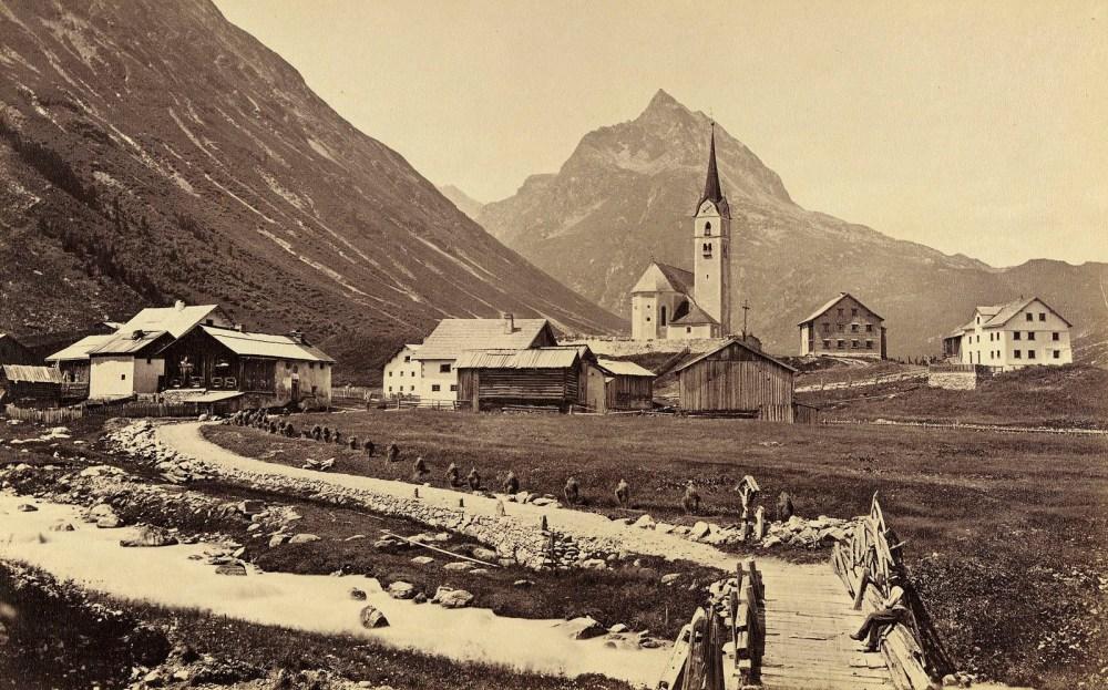 Galtür im Jahre 1890