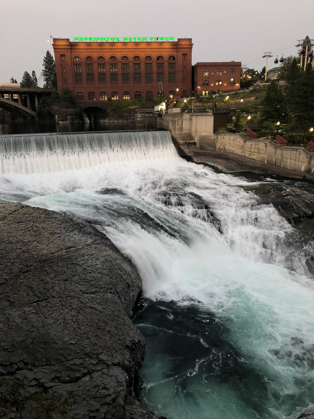 Spokane Falls im Bundesstaat Washington
