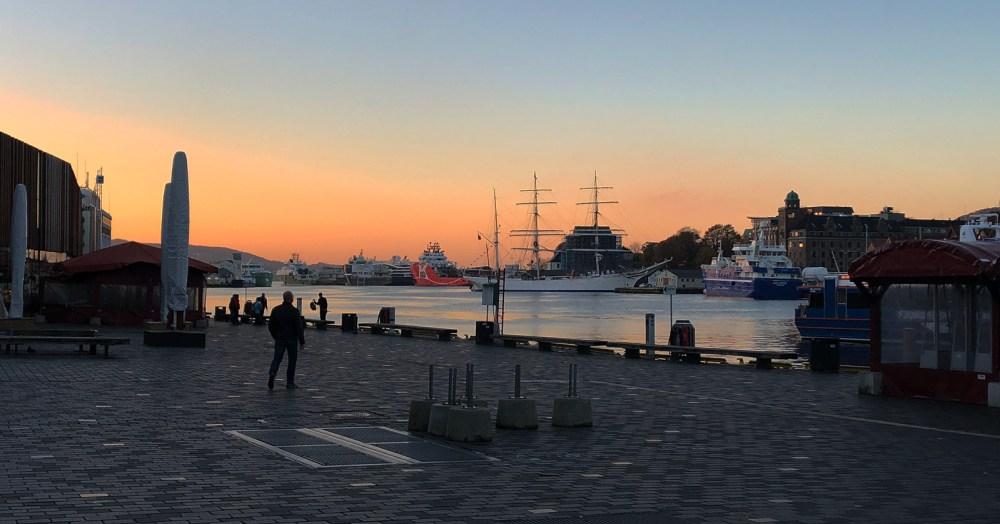 Im Hafen von Bergen