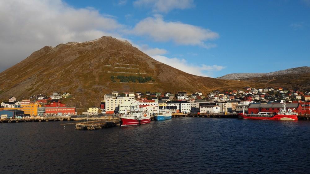 Der Hafen von Honningsvåg