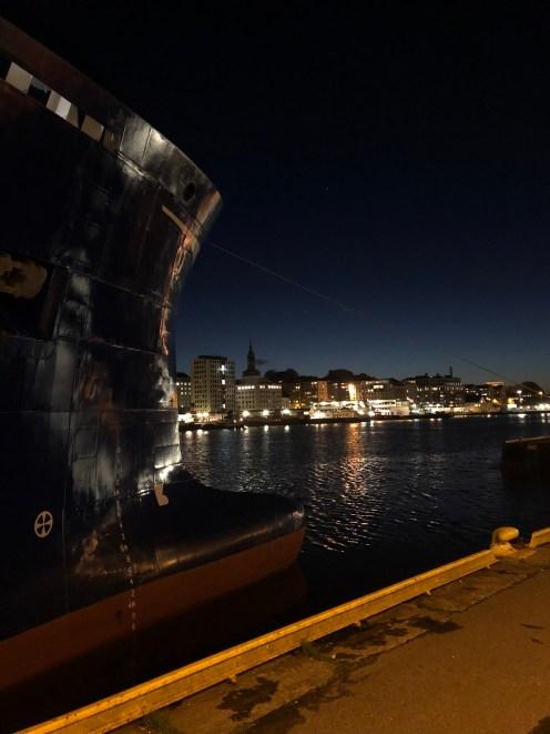 Abendstimmung im Hafen von Bergen