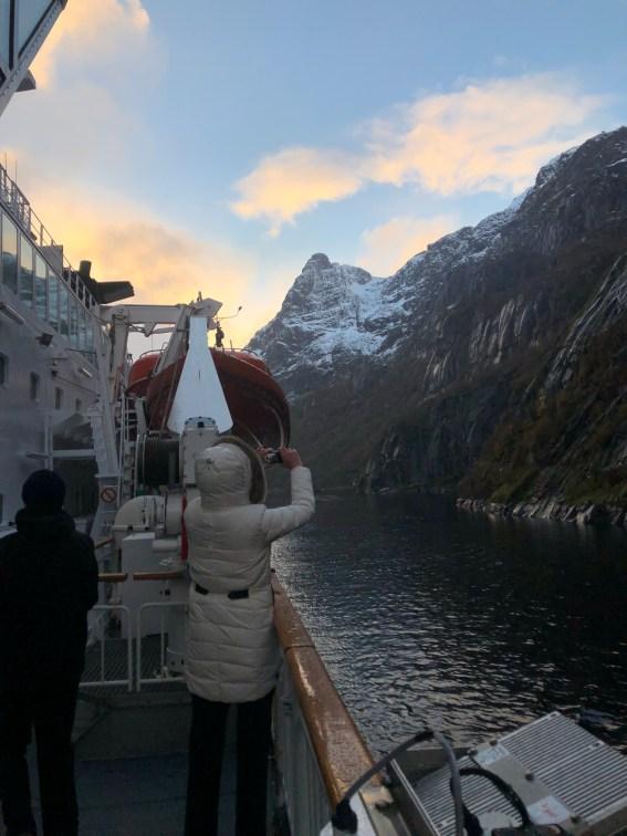 Wendemanöver im Trollfjord
