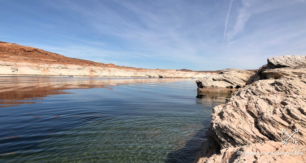 Der Lake Powell bei der Boat Ramp beim Antelope Point