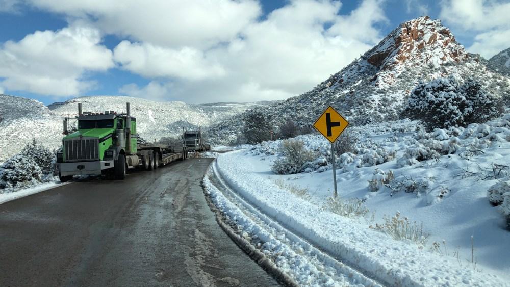 La Sal Mountain Loop Road im Winter