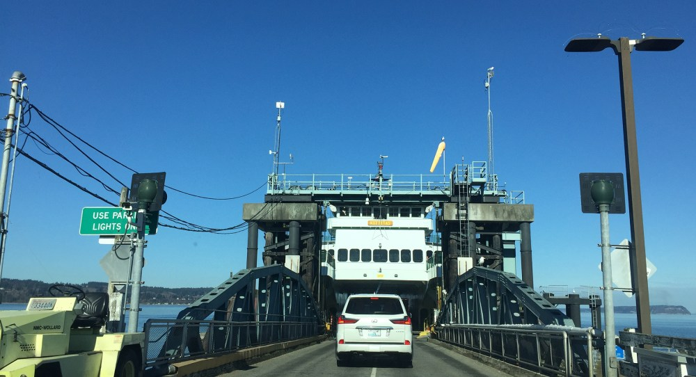 Bording the Ferry to Whidbey Island in Mukilteo
