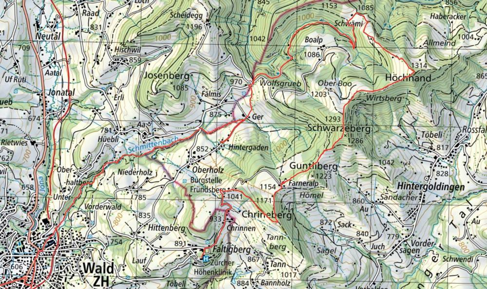 Höchhand-Karte-detail