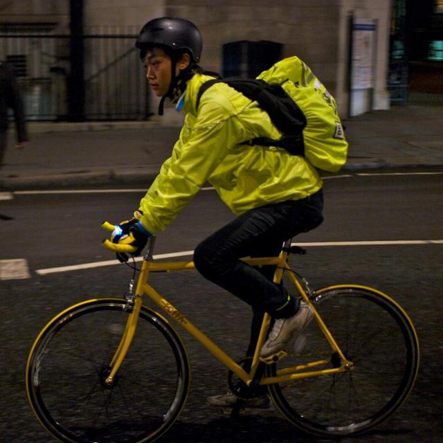 says cyclists should make themselves seen - but reflective clothing ...