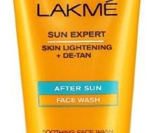 lakme-sun-expert-skin-lightening-de-tan-after-sun-face-wash-review
