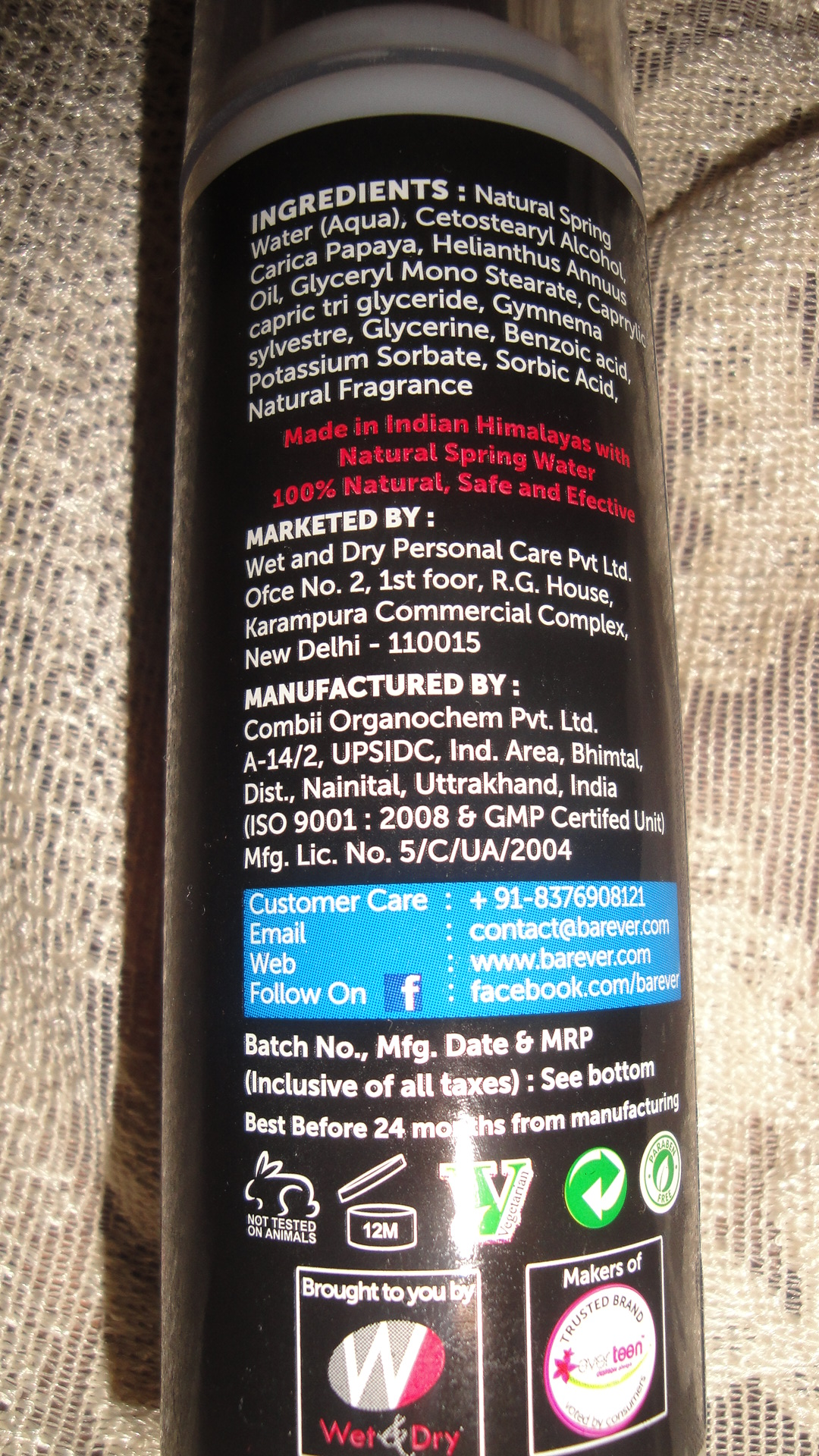 Barever Natural Hair Growth Inhibitor Review