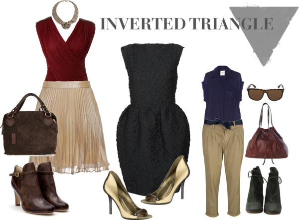 dressing up inverted triangle body shape