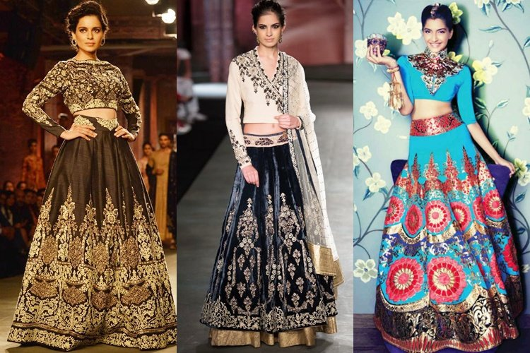 crop top bridal lehenga 2016
