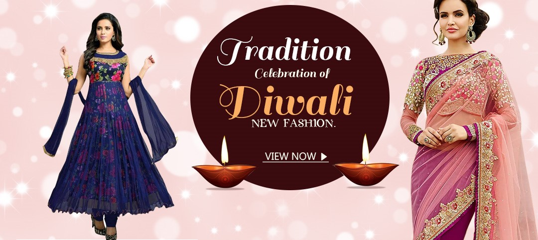 Traditional Celebration of Diwali with New Fashion Statement