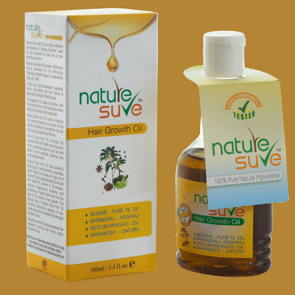 Nature Sure natural personal care products brand hair growth oil