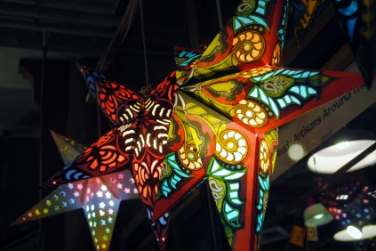 Star lanterns in public market