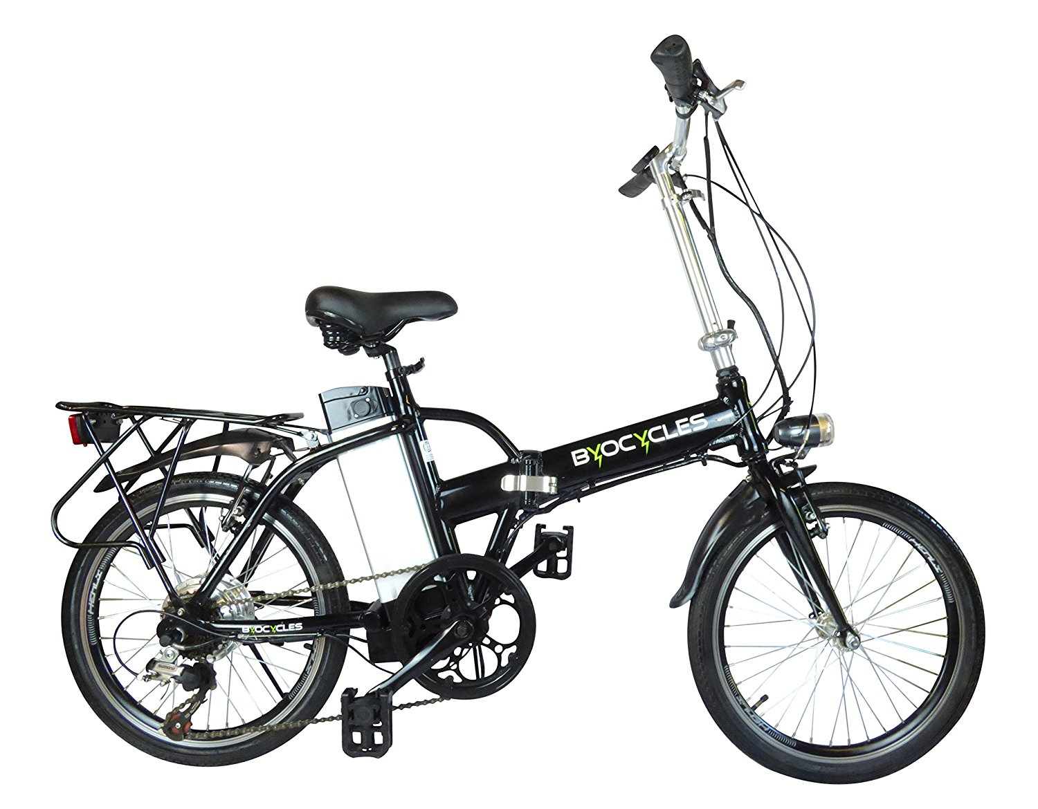 Byocycle City Speed 6 Speed Folding Electric Bike Bicycle