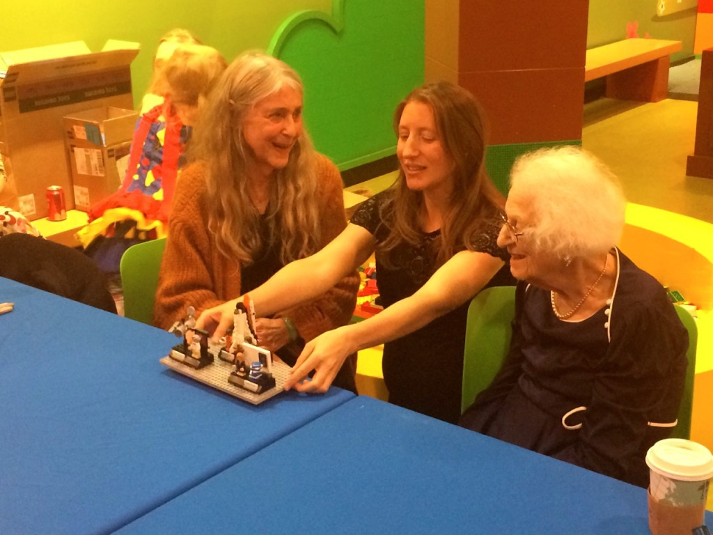 Maia with Margaret Hamilton and Nancy Grace Roman at Women of NASA LEGO debut party