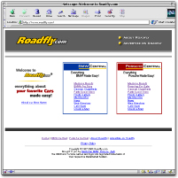 Original Roadfly.com Home Page