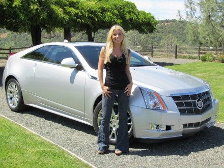 Jessi Lang tests the 2011 Cadillac CTS Coupe