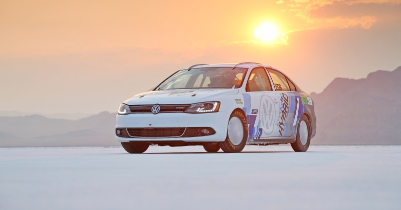 World's Fastest Hybrid - The 2013 VW Jetta Hybrid 185 mph.