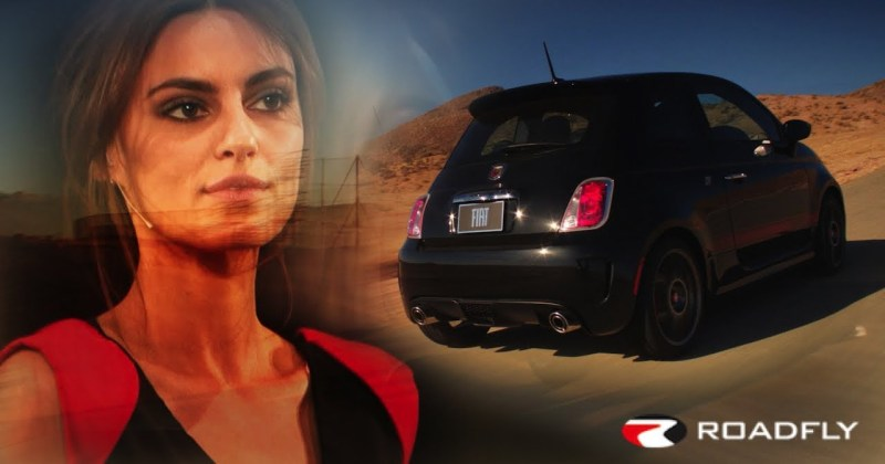 Fiat Abarth and Supermodel Catrinel Menghia with Charlie Romero