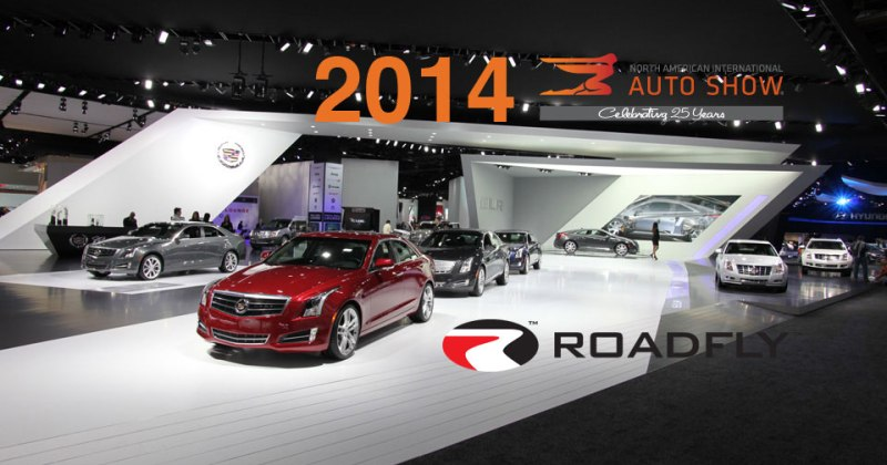 Cadillac booth at NAIAS Detroit Auto Show 2013