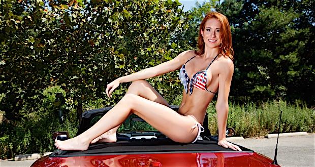 Bikini Model Payton Bodecker Ford Mustang GT