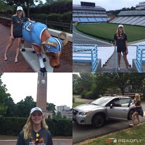 Ava Romero Touring UNC Chapel Hill for Lacrosse