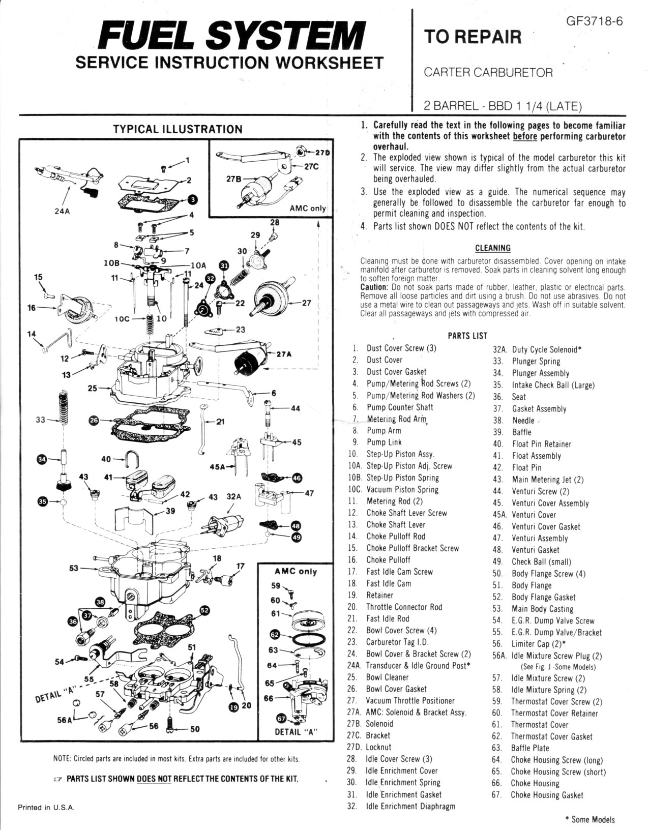 2 Barrel Rochester Carburetor Vacuum Diagram