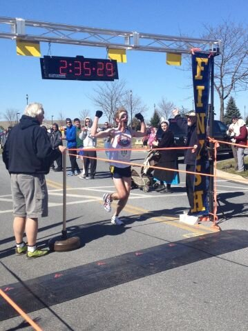 Kenny Winning The Garden Spot Village Marathon in 2:35:30.