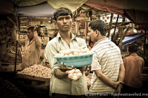 A local street vendor in Mumbai