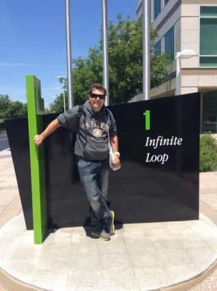 At Apple HQ - 1 Infinite Loop, Cupertino, California USA