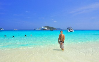 Snorkelling the Similan Islands. Thailand