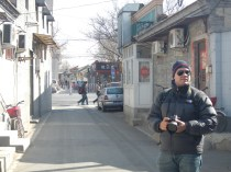 Snapping shots in the cold backstreets of a Beijing winter morning.