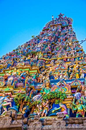 A southern Indian temple in Chennai, india