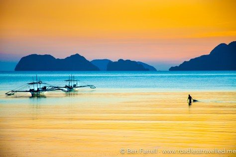 El Nido Sunset Fisherman